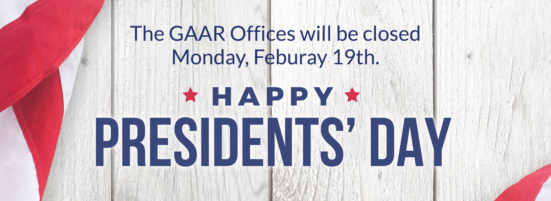 GAAR Office Closed