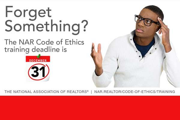 Code of Ethics Training Deadline…