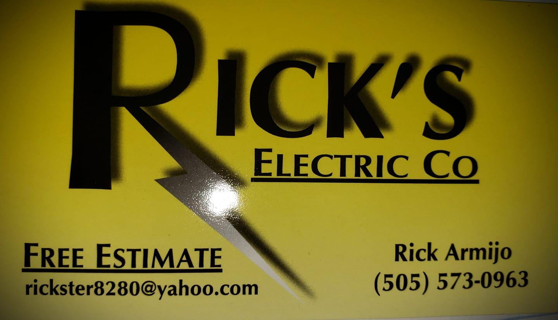 Ricks Electric Co. logo