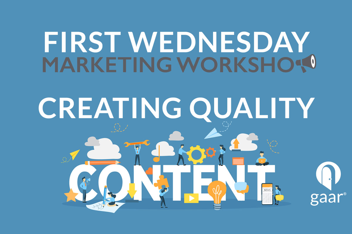 First Wednesday Marketing Workshop: Creating Quality Content Live Stream