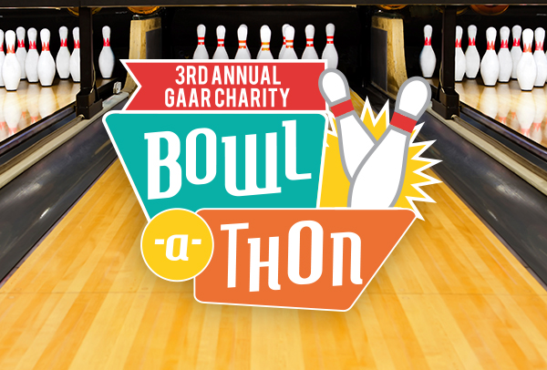 Mark Your Calendar for the 3rd Annual GAAR Charity Bowl-A-Thon