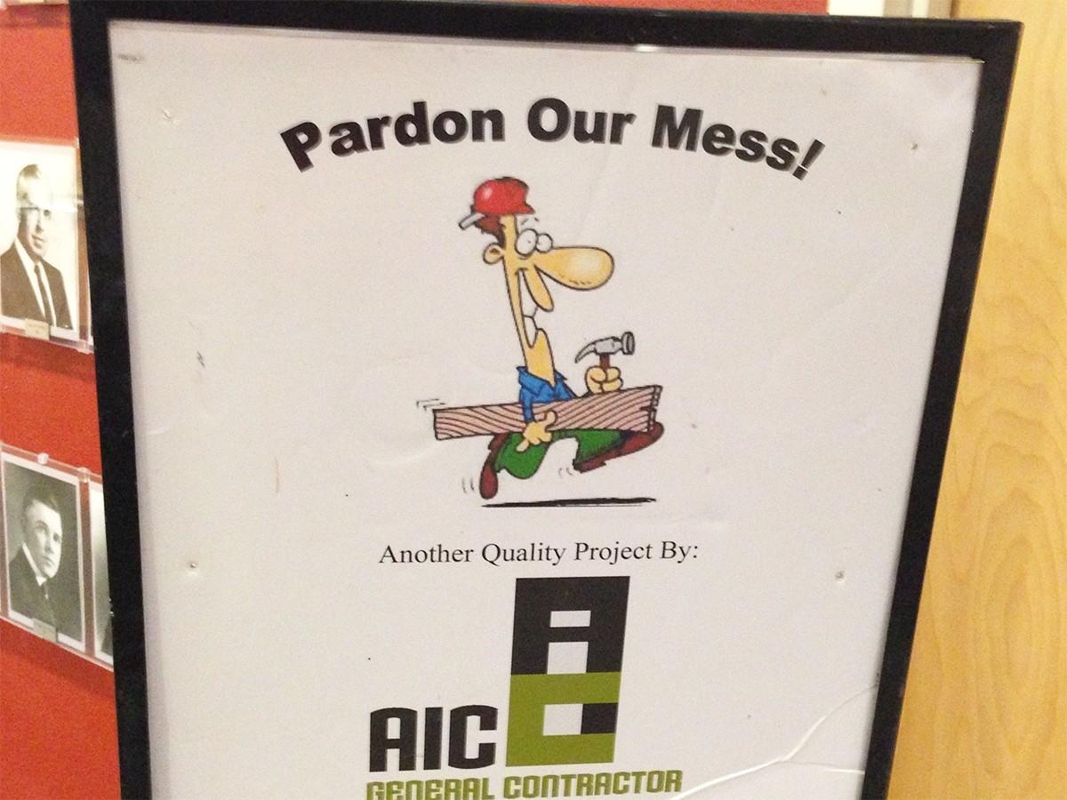 Pardon our dust…