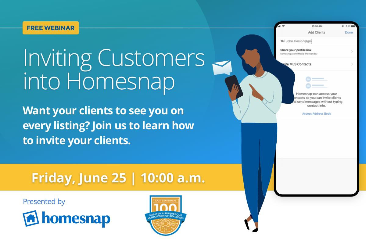Webinar: Inviting Clients to Homesnap