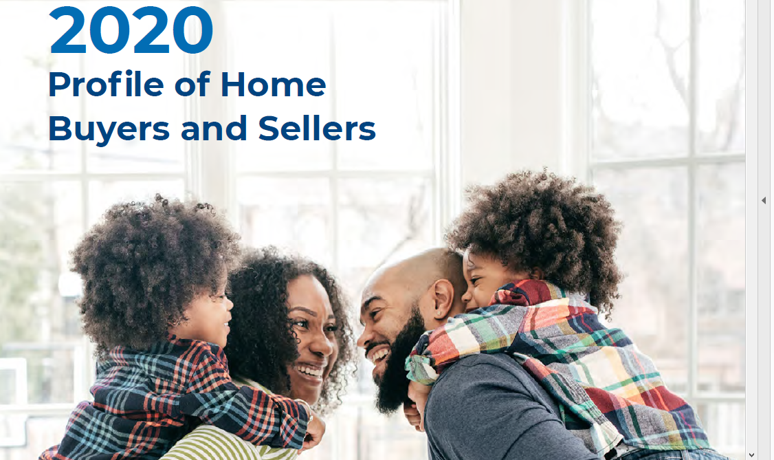 NAR Releases 2020 Profile of Home Buyers and Sellers