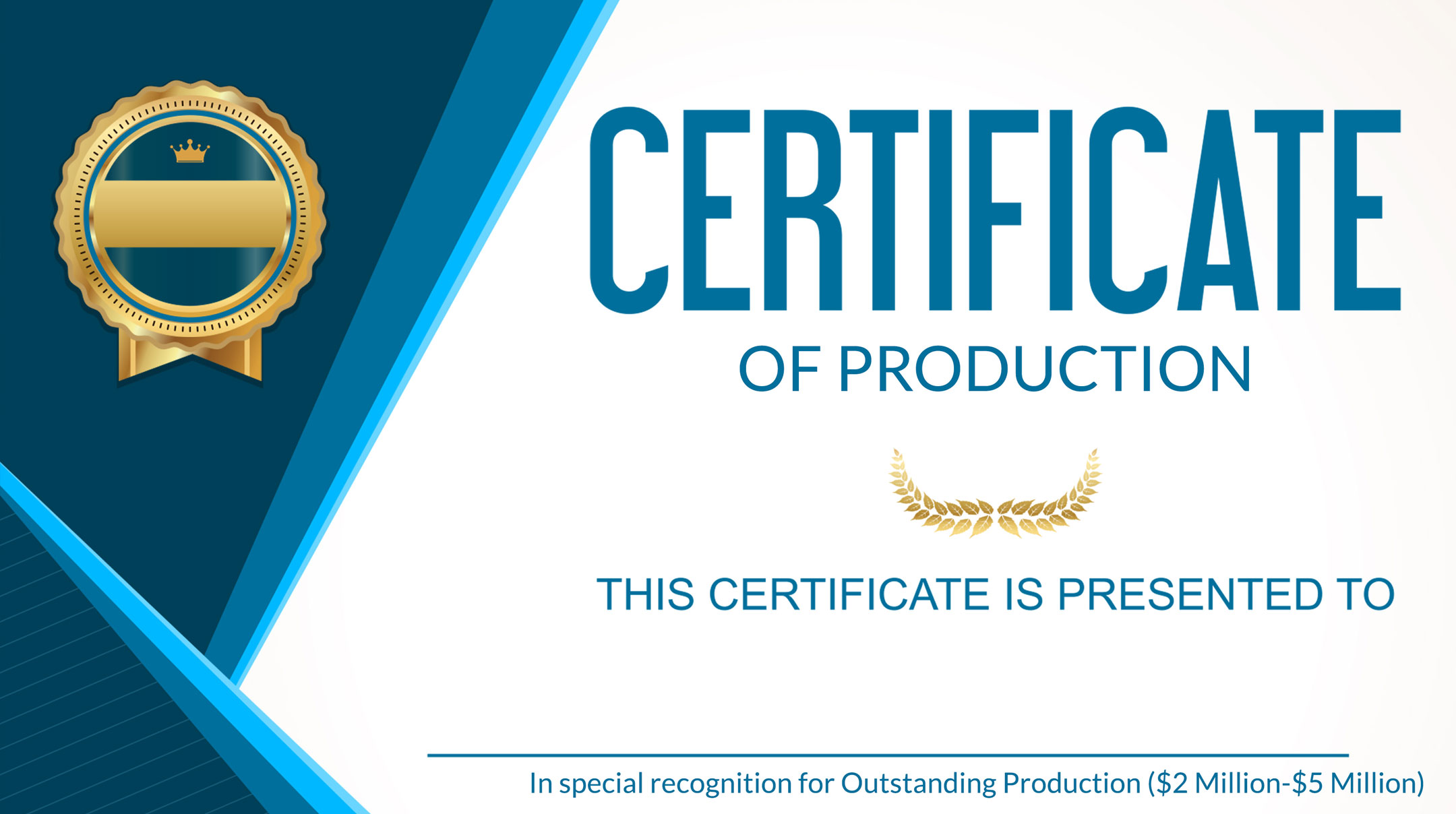 Order Your Production Certificate for 2019