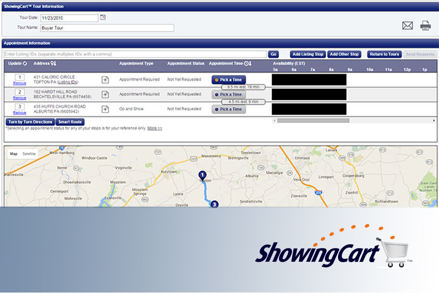 Build your ShowingCart tour directly from Flex