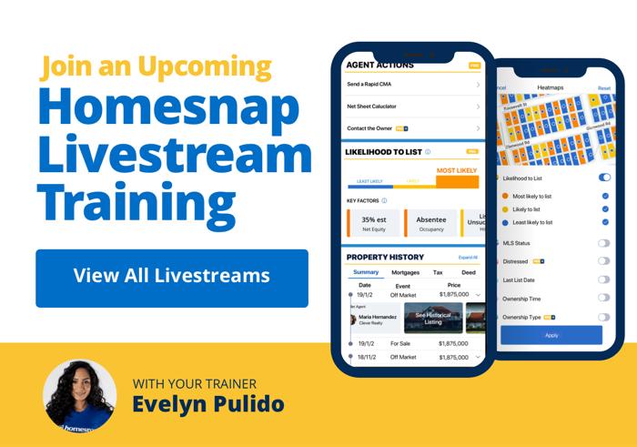 Homesnap Training Calendar with Evelyn Pulido
