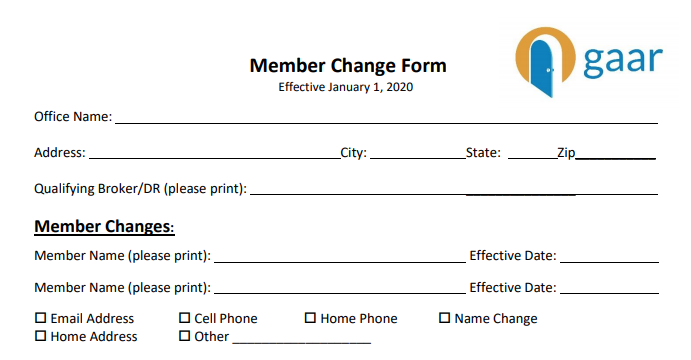 Forms Library for GAAR & SWMLS