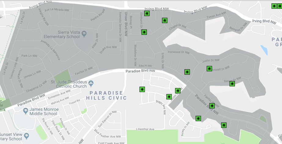 New Overlay Shape: Paradise Hills Special Zoning District