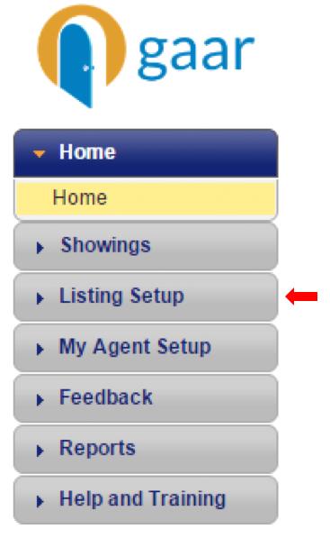 ShowingTime: Listing Setup